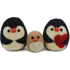 Christmas Penguin Felting Decoration Kit 3 Pack | Hobbycraft