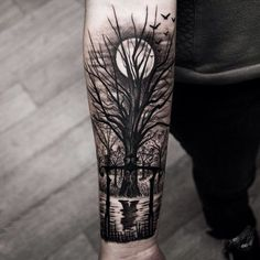 tree forearm tattoos More