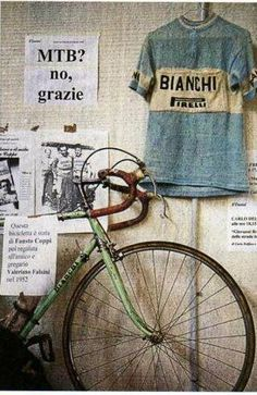 Bianchi, MTB, Bicycle bike cycle sykkel bicicleta vélo bicicletta rad racer wheels illustration posters graphics design biking ride cycling riding Pirelli