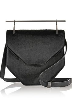 Calling all minimalists!M2Malletier Amor Fati Calf Hair and Leather Shoulder Bag, $2,185 $1,093, available at Net-a-Porter. #refinery29 http://www.refinery29.com/best-going-out-bags#slide-13