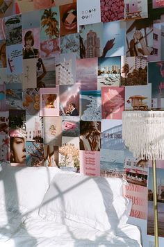 Our first ever half-sized kit comes with 75 full- page prints full of dreamy hues and ethereal images . Cute Room Ideas, Cute Room Decor, Teen Room Decor, Room Ideas Bedroom, Bedroom Inspo, Teen Bedroom, Bedroom Decor Ideas For Teen Girls, Picture Room Decor, Tumblr Room Decor
