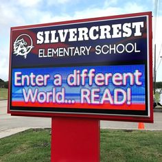 This elementary school in Pearland, Texas, encourages literacy using their Integrated Outdoor LED Sign. Changeable Letter Signs, Outdoor Led Signs, Pearland Texas, Sign Installation, Monument Signs, Sign Lighting, School Signs, Effective Communication, Box Signs