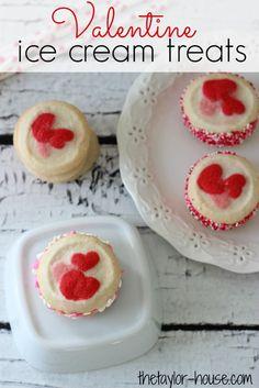 Valentine Treats, Valentine Recipes, Valentine Ice Cream Treats