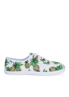 Pineapple Lace-up Sneakers in Multi | Necessary Clothing