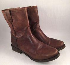 Joelle Leather Ankle Boot Size 8.5 B Western #Joelle #CowboyWestern #Casual