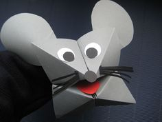 Mouse made from fortune teller origami 3d Paper Crafts, Diy Paper, Paper Art, Diy And Crafts, Mouse And The Motorcycle, Diy For Kids, Crafts For Kids, Classe D'art, Mouse Crafts