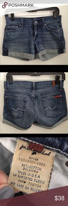 7 for all mankind cuffed denim shorts 7 for all mankind cuffed denim shorts 7 For All Mankind Shorts Jean Shorts