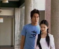 Tao Ming She and Sanchai Jerry Yan, F4 Meteor Garden, Taiwan Drama, Drama Series, Handsome, T Shirts For Women, Spam, Flower, Couples