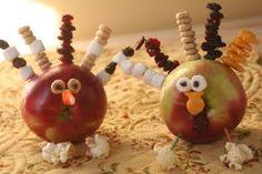 "Easy, Fun, Craft: Apple Turkeys (I love her ""Toddler Brain"" blog!!!)"