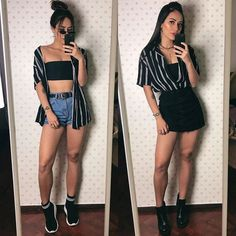 Street Style: The 30 Best Looks For Everyday - Outfit Ideas Mode Outfits, Grunge Outfits, Trendy Outfits, Summer Outfits, Girl Outfits, Fashion Outfits, Classy Chic Outfits, Teenager Fashion Trends, Trekking Outfit