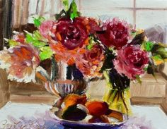 FIVE ROSES, painting by artist CECILIA ROSSLEE