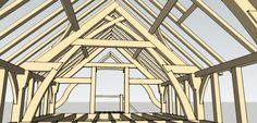 #Slingbrace Scissor  truss ...#AdvancedTimberFraming Course