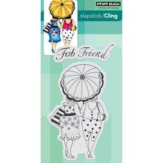 Penny Black Cling Stamp Fab Friend by PNWCrafts on Etsy