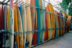Surfboard locker Waikiki, Oahu