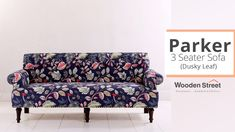 Spruce up your living room interiors by incorporating Parker 3-seater sofa. #fabricsofas #sofasets