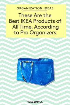 To find the best IKEA organizers ever, we reached out to professional organizers for their all-time favorite IKEA products. From the iconic, durable blue bags to clever hanging organizers, here are their picks. Ikea Organization, Organizing Ideas, Ikea Closet System, Ikea Must Haves, Pantry Inventory, Ikea Algot, Real Simple Magazine, Ikea Products, Professional Organizers