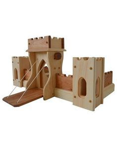 Elves and Angels NEW for 2016 Fairy Tale Castle features a beautiful blend of pine and hardwood. Heave Ho and away men! Time to hoist the drawbridge! Listen to the creaks a Wooden Toy Castle, Wood Projects, Woodworking Projects, Woodworking Toys, Danish Oil Finish, Free Standing Wall, Hardwood Stairs, Double Window, Fairytale Castle