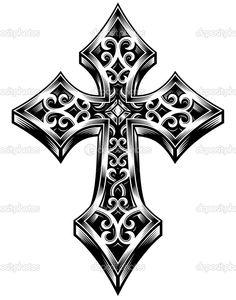 tattoo cruz gotica