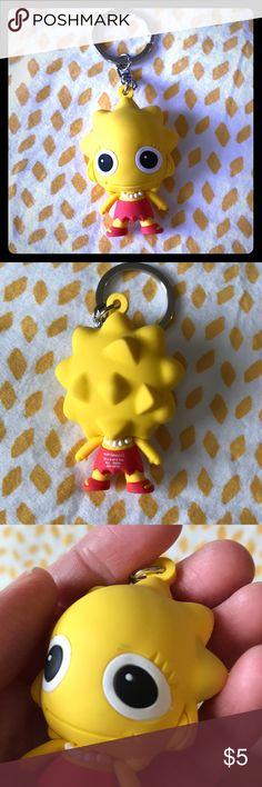 🎉Lisa Simpson key chain Cute key chain. Never used, but was in a drawer for awhile, so a few scuffs and a little dirt in the crevices. Accessories Key & Card Holders