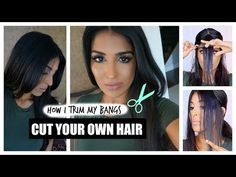 How to Cut Your Own Hair - Bangs - YouTube