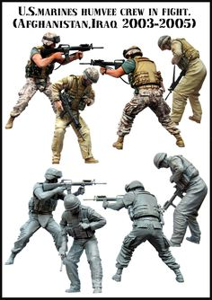 US Marines in Iraq/Afghanistan. Fantastic 1/35 scale resin figures from Evolution Miniatures. Click on the picture for more