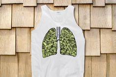 Weed Lungs Marijuana Trippy Sleeveless Tank by StonerMotivation