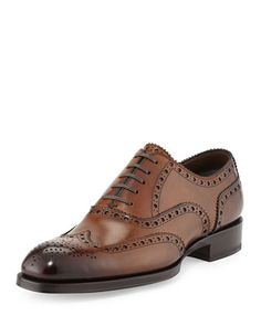 Edward+Wing-Tip+Oxford,+Caramel+by+Tom+Ford+at+Neiman+Marcus.