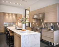 Modern Kitchen with Lakeside Views | LuxeSource | Luxe Magazine - The Luxury Home Redefined
