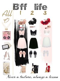 """""""bff life (insperated by Rihanna)"""" by thea-lala ❤ liked on Polyvore featuring Lands' End, For Love & Lemons, NLY Trend, Accessorize, Jacquie Aiche, Sydney Evan and Casetify"""