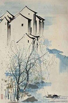 WU GUANZHONG (1919~2010) 吳冠中 | Hong Kong