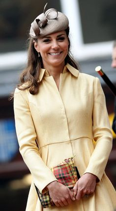 Kate Middleton Wears Yellow For a Special Service With William  JULY 5, 2012 Kate is all smiles at the Thistle Ceremony in Scotland