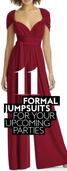 Swap your shift dress for this of-the-moment upgrade. #FormalJumpsuits #PartyJumpsuits #WeddingJumpsuits