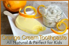 Homemade Natural Toothpaste Kids Will Love ; Homemade toothpaste is one thing. Homemade toothpaste kids will use is quite another. Thats why this Natural Orange Cream Toothpaste for kids is such a hit! Toothpaste Recipe, Kids Toothpaste, Homemade Toothpaste, Natural Toothpaste, Flavored Toothpaste, Orange Creme, Cleaners Homemade, Homemade Beauty Products, Natural Products