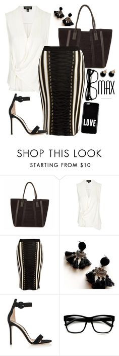 """""""Official Version"""" by chelsofly on Polyvore featuring IMoshion, Topshop, Balmain, Gianvito Rossi and Givenchy"""