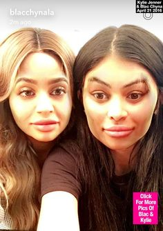 Kylie Jenner & Blac Chyna Swap Faces During 'Best Friend' Hangout On Snapchat —Pic