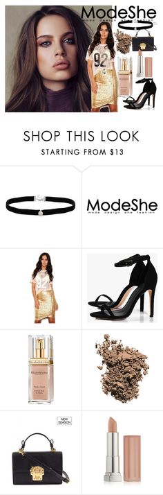 """""""#ModeShe"""" by deja-leko ❤ liked on Polyvore featuring Amanda Rose Collection, Boohoo, Elizabeth Arden, Dolce&Gabbana and Maybelline"""