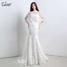 Find More Wedding Dresses Information about Sexy Backless Mermaid Wedding Dress Designers Lace with Jacket Lace Up Back Bridal Gown Bride Dresses Vestido De Noiva,High Quality vestido de noiva,China gown bride Suppliers, Cheap mermaid wedding from Shop1404230 Store on Aliexpress.com