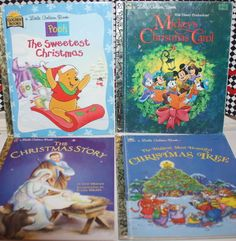 Christmas Little Golden Books Lot of 4 Holiday Reading