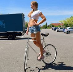 Standing Tall on bike and all. Great Balance. c5o