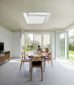 Realise the VELUX potential in your extension. What is the VELUX potential? It's when that extra space transforms into an extra special space that you love spending time in. VELUX roof windows ca Roof Window, Beautiful Dining Rooms, Blinds For Windows, Ceiling Windows, Ceilings, House Extensions, Flat Roof, Office Interior Design, Dining Room Design