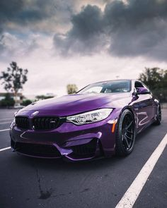 Like poetry. But louder. The #BMW #M4 Coupé in #BMWIndividual Purple Silk metallic. #BMWM #BMWMrepost via #forza.first __________ BMW M4 Coupé – Fuel consumption (combined): 8.8-8.3 l/100 km; CO2...