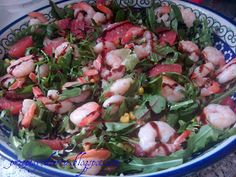 Shrimp and grapefruit salad / Sałatka z krewetkami i grejpfrutem