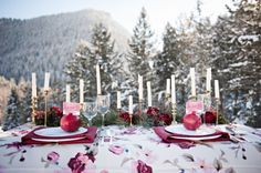 Winter Reception Table Ideas | photography by http://brookebakken.com | floral, styling and event design by http://www.petalpixie.com/