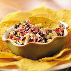 Creamy Black Bean Salsa Recipe -I love sour cream on Mexican dishes, so I decided to add it to a salsa recipe. It always goes fast, so you may want to double the recipe. —Darlene Brenden, Salem, Oregon