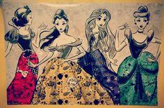 Disney Princess poster from Hot Topic. Source: http://instagram.com/p/pmoG9Ak3J6/