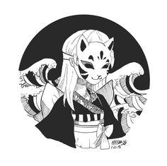 Digital version and tattoo of my girl from the kit Digitale Version und Tätowierung meines Mädchens von der Kitsune-Maske 🎭 -Danke an die Pe … Digital version and tattoo of my girl from the Kitsune mask 🎭 -thanks to the pe … – – you - Anime Kunst, Anime Art, Aesthetic Art, Aesthetic Anime, Kitsune Maske, Art Sketches, Art Drawings, Tattoo Sketches, Kunst Tattoos
