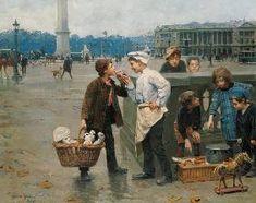 Charles Chocarne-Moreau - Petits vendeurs de rue