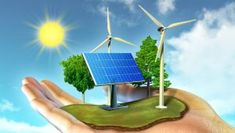 Renewable Energy or Nonconventional Energy or Sustainable Energy defined as, from a source that is not exhausted when used, such as wind energy or solar energy etc included effective applications. Renewable Energy Projects, Renewable Sources Of Energy, Solar Energy, Solar Power, Sun Solar, Energy Conservation Day, Offshore Wind Turbines, Energy Services, Energy Resources