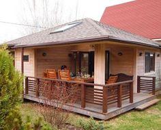 HappyModern.RU | Баня с беседкой под одной крышей (проекты, фото): выгодно, функционально и эстетично | http://happymodern.ru
