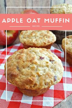 Need an idea for all those apples your picking? Try these Healthy Apple Oat Muffins